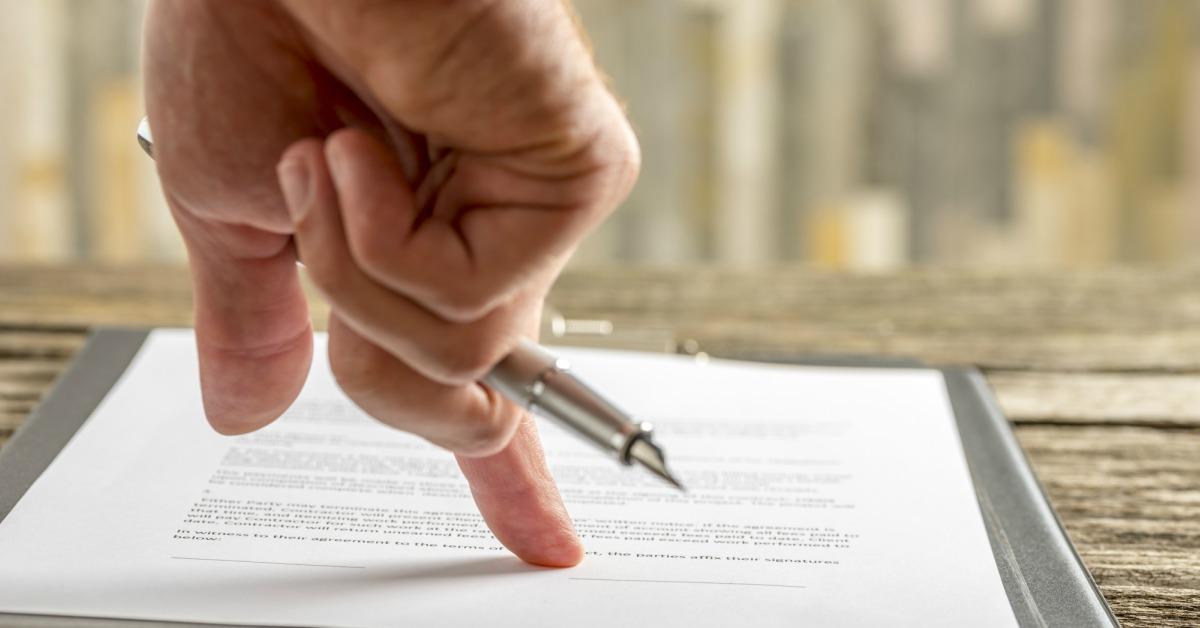 Leasecontract tekenen